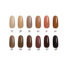 Free shipping Toffee Series 6pcs Inail Gel Nail Polish 15ml 12 colors for choice
