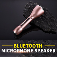 Hottest portable home KTV karaoke player wireless 1000mAh Battery Capacity amplifier bluetooth microphone speaker