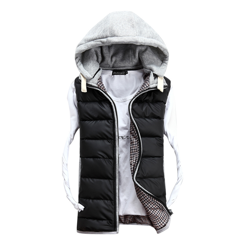 2015 Fashion Mens Coat Mens Warm Waistcoat Mens vest Men's Outwear Vest Down and Cotton Vest Jacket For Man #S904