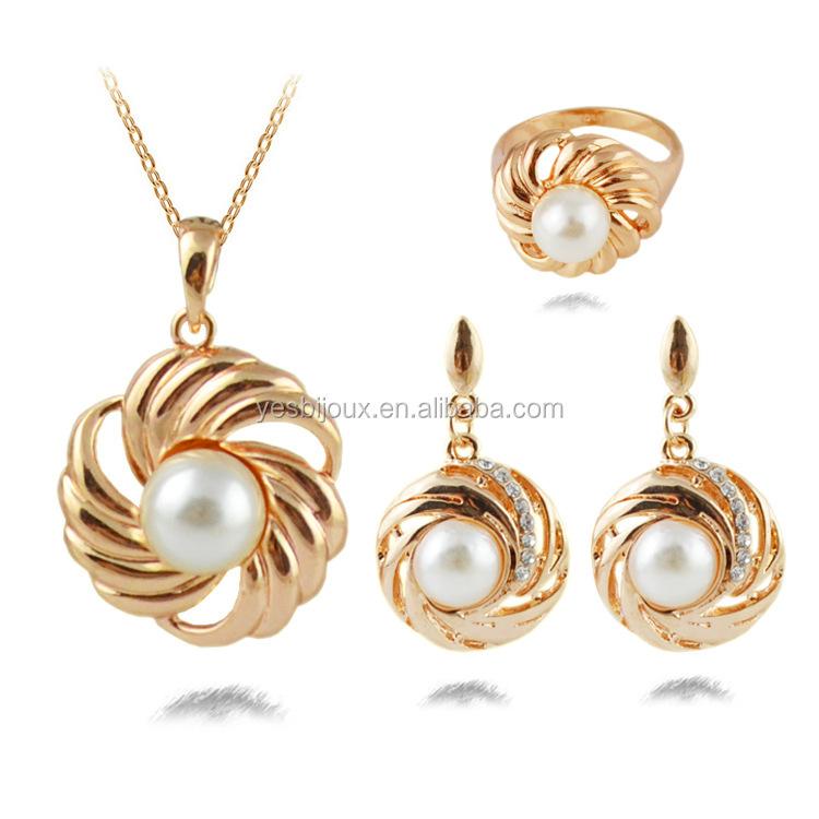 Saudi Arabia Gold Jewelry Set Saudi Gold Jewellery With Pearl ...