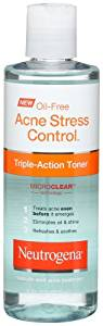 Neutrogena Oil-Free Acne Stress Control Triple-Action Toner, 8 Fl. Oz. (Pack of 3)