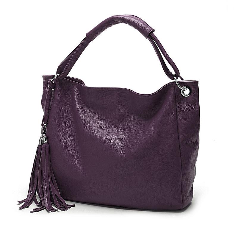 Zency 100% мягкая женская сумка из натуральной кожи с кисточками черно-белые женские сумки через плечо сумка-мессенджер сумка через плечо(Китай)