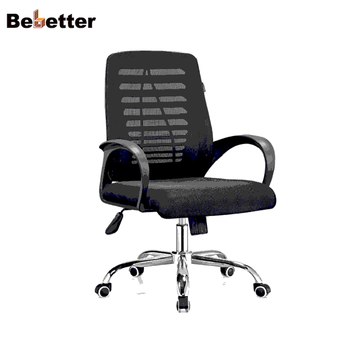 Top Sale Nice Price Comfortable Office Chairs Low Back Black Mesh Computer  Chairs Foshan Bebetter Office