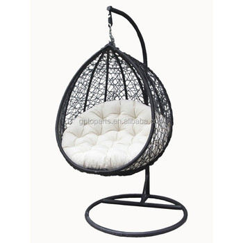 Charmant Home Wicker Hanging Swing Egg Chair In Rattan   Egg Swing Chair