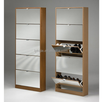 super quality closed iron shoe cabinet design black white color shoe rack standing mirror shoe. Black Bedroom Furniture Sets. Home Design Ideas