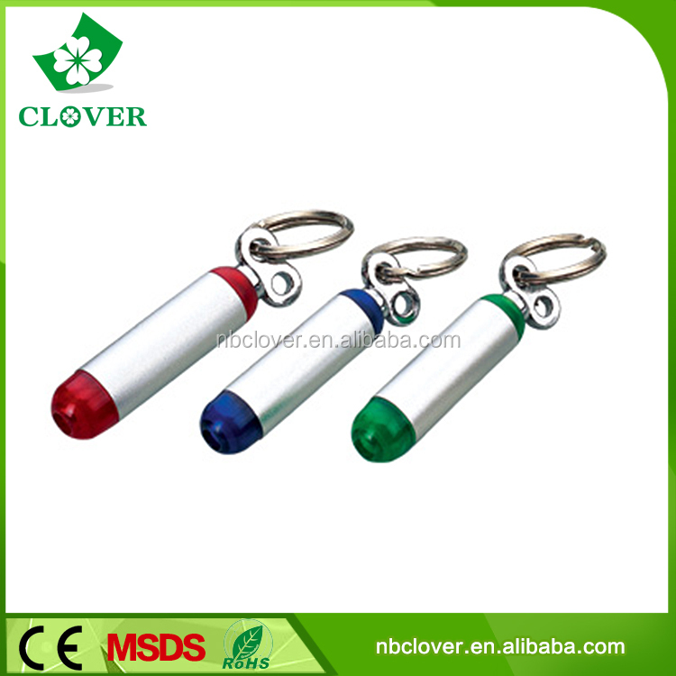 With 1 led micro light plastic material led torch keychain