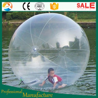 water walking ball/ inflatable water ball/ water polo ball transparent dia 2m