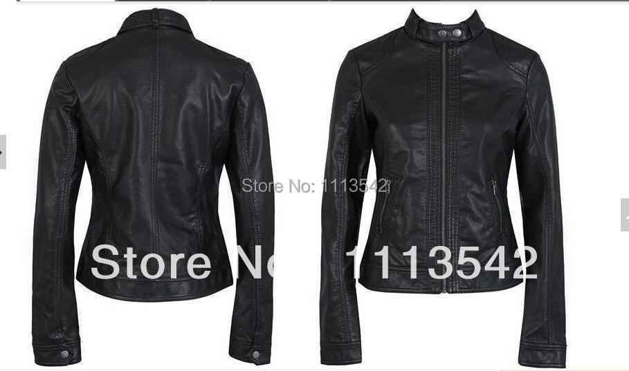 В подразделе, Один Pimkie моющийся полиуретан кожа мотоцикл куртка приталенный женское короткая пункт кожа большие размер