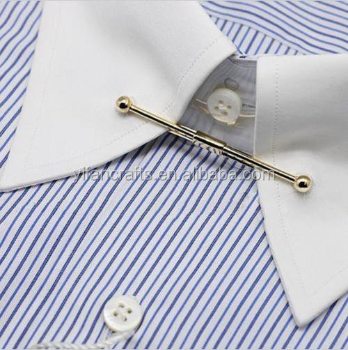 Yaka pin erkek alt n yaka barlar metal asil kravat for Tie bar collar shirt