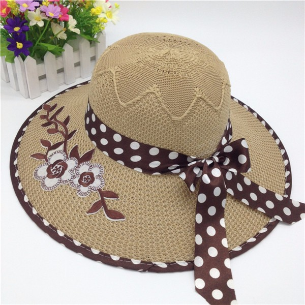 2331d1c7a3ef8 Women beach sombrero cheap Polyester straw cap lowes straw hats for sale