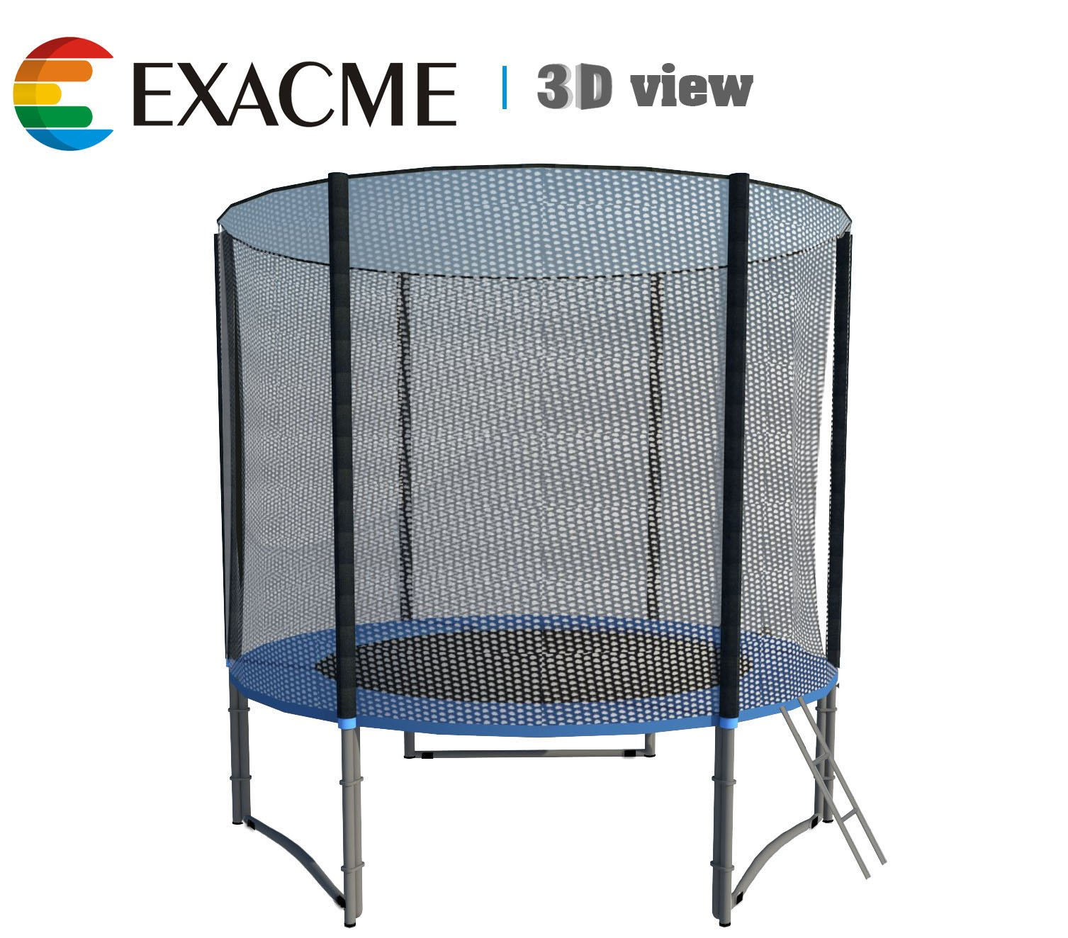 ExacMe 8ft Trampoline w/ Safety Pad and Enclosure Net All-in-one Combo Set, T8