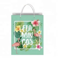 Eco friendly promotional custom reusable famous brand paper bag for clothing and shopping