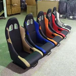 CHEAP CAR RACING SEATS PVC LEATHER SPORTS BUCKET RACING SEAT+CUSHION WITH DOUBLE SLIDER JBR1015