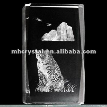Engraved Cat Crystal Glass Cube Mh F0164 Buy 3d Crystal