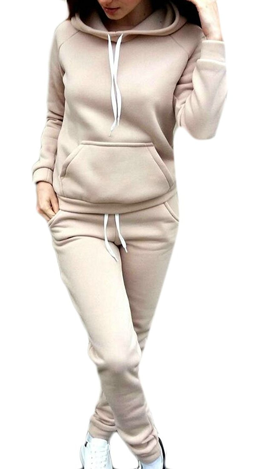 f8f4cd37fb60 Get Quotations · Happy Time-Women Plus Size Hooded Sweatshirt 2 Piece Pants  Tracksuit Outfits