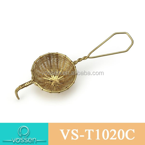 Small Imitation bamboo type Stainless steel Gold Tea Infuser