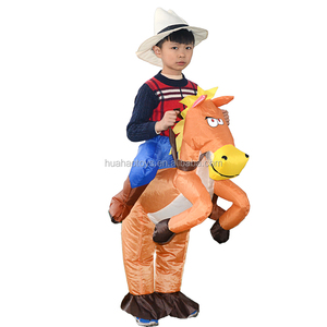 Kids cowboy costume inflatable horse costume for party fancy dress