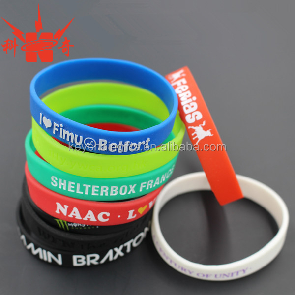 Custom personalized silicone wristbands/rubber bracelet /magnetic silicone bracelet