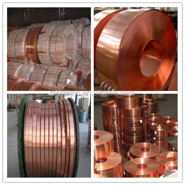Deburring strip coil copper