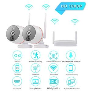 4CH Mini wifi NVR Kit with PIR Motion Detection