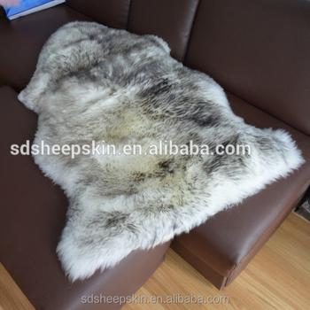 White Fur Wool Lamb Rug Animal Long