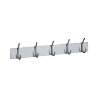 Decorative Hanging Hook Wall Mounted Hook Rail Coat Rack Stainless Steel Clothe hook