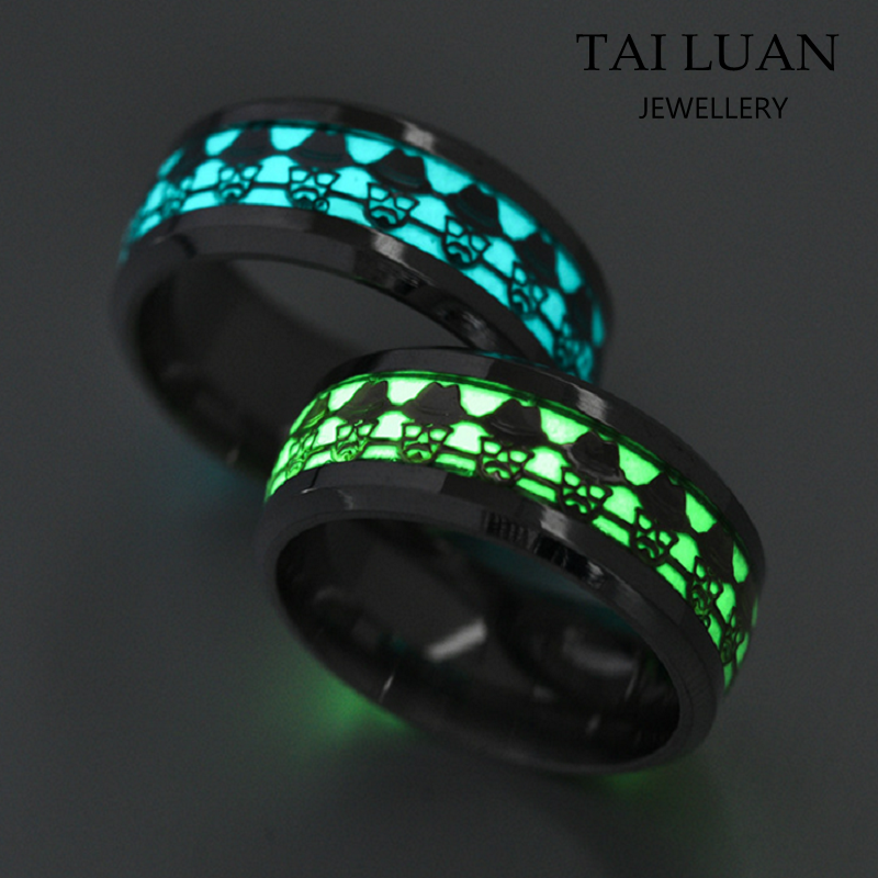 Fashion stainless jewelry luminous ring 3161 stainless steel glow ring
