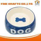 Pet Novelty Items durable dog bowl ceramic with bone pattern