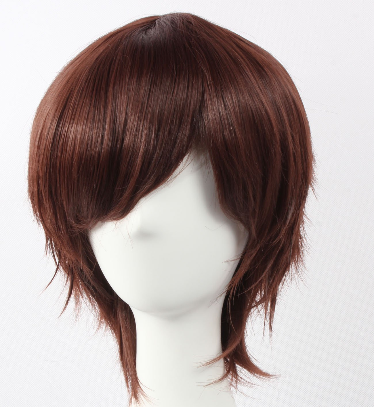 Coolsky Wig Dark Brown Wig Short Dark Brown Layered Wig Axis powers BASARA Wi