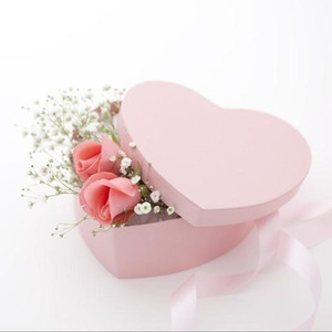Thick Heart Rigid Cardboard Round Plain Hat Box