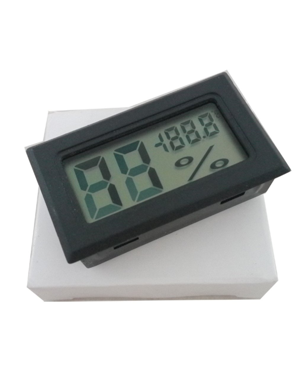 Digital Mini Instant-Read Temperature (Fahrenheit) & Humidity Gauge Thermometer , Black