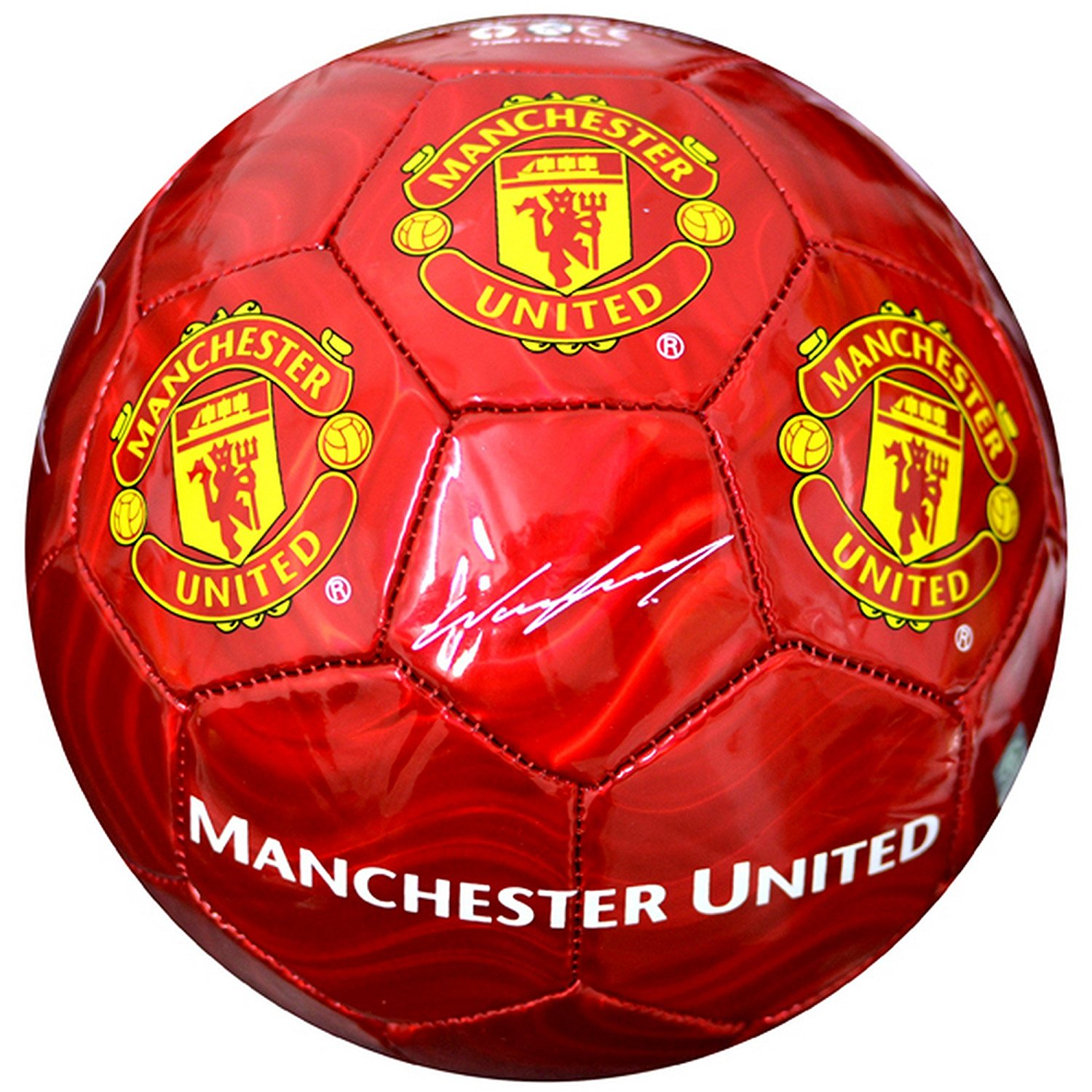 Manchester United FC Official Signature Crest Football/Soccer Ball (Size 5)