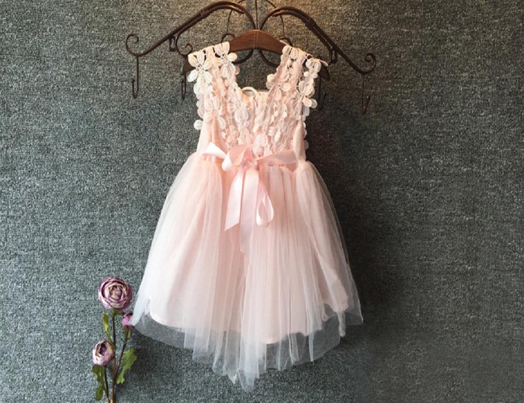 Compra Beige Vestidos De Dama De Honor Online Al Por Mayor: Compra Vestido De Flores De Tul Online Al Por Mayor De