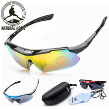 [NaturalHome] Brand Cycling Sunglasses Men Women 2016 Mtb Sport Bike Bicycle Cycling Eyewear Glasses Goggles Set
