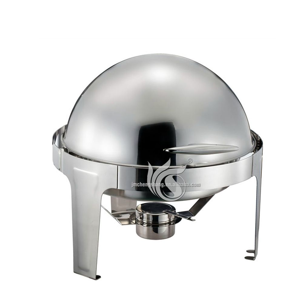 Round Roll Top 6L Stainless Steel Chafer Dish Buffet Warmer