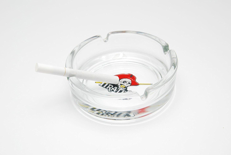 Glass Round Ashtray Tabletop Ashtray Smoke Billiard Designs (Several Designs Available) (Pirates)