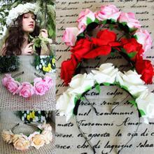 Dámská čelenka do vlasů s květinkami z Aliexpress