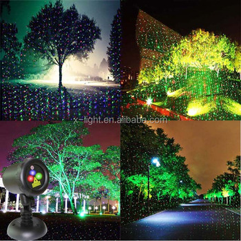 waterproof ip65 red and green christmas decoration laser light for tree - Laser Lights Christmas Decorations