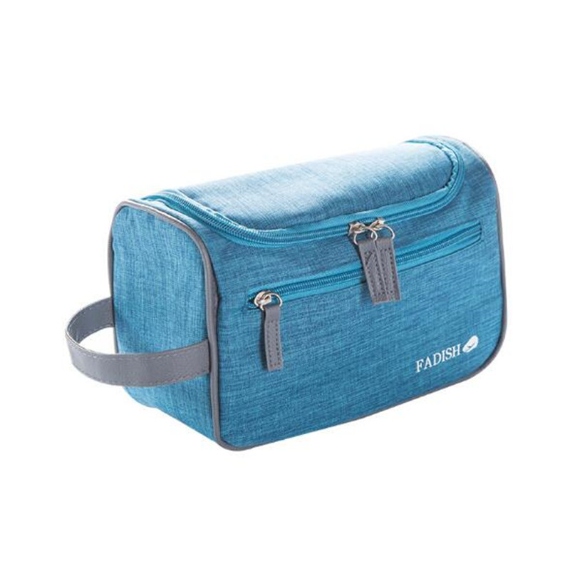Fashion Gray <strong>Travel</strong> Handy Canvas & Leather Men Toiletry Bag makeup pouch <strong>travel</strong>