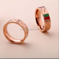 Wholesale products fashion stamped titanium lovers ring for couple lovers in dongguan