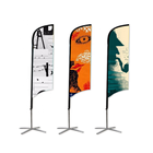 2019 cheap made flags outdoor promotional flags and banners advertising custom flag printed feather banner