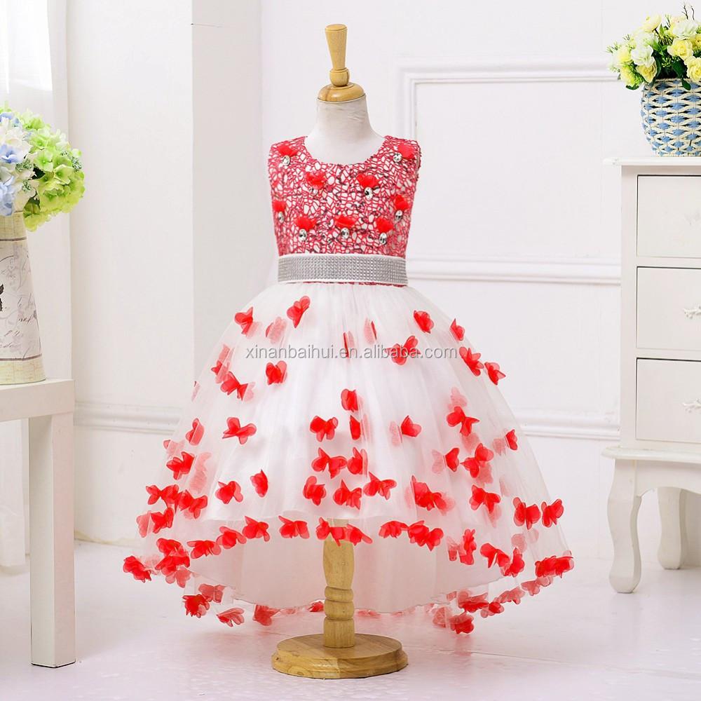 ESTILO OCCIDENTAL flor dama de honor niña vestido niña encantadora ...