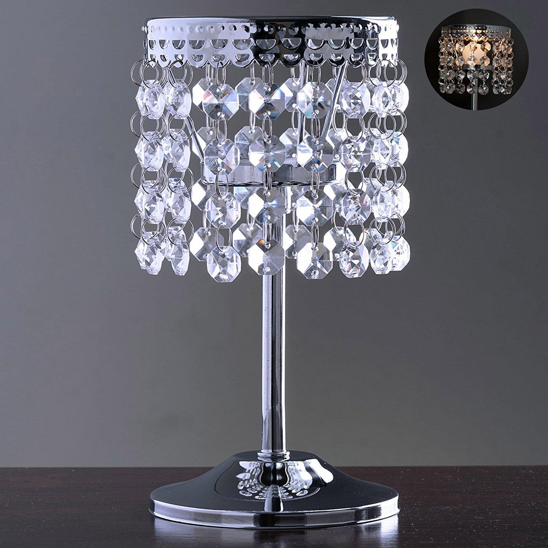 "Elegant Metal Votive Tealight Crystal Candle Holder Wedding Centerpiece - 7.5"""
