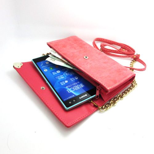 Universal Xiegua zipper shoulder bag phone package coin purse for Sony Xperia C3 / Xperia C4 free shipping