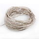 US plug 10m 100L 33ft invisible micro waterproof led copper wire string lights warm white with 110v adapter