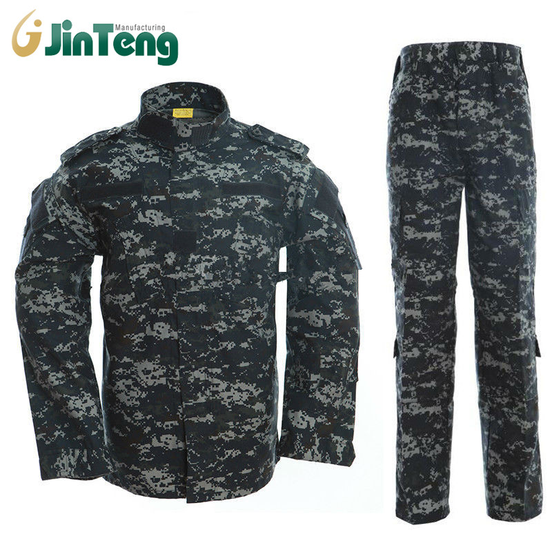 Ocean Camouflage Clothes Men Tactical Military Costume Battle Fatigues US Troops Navy Working Uniform