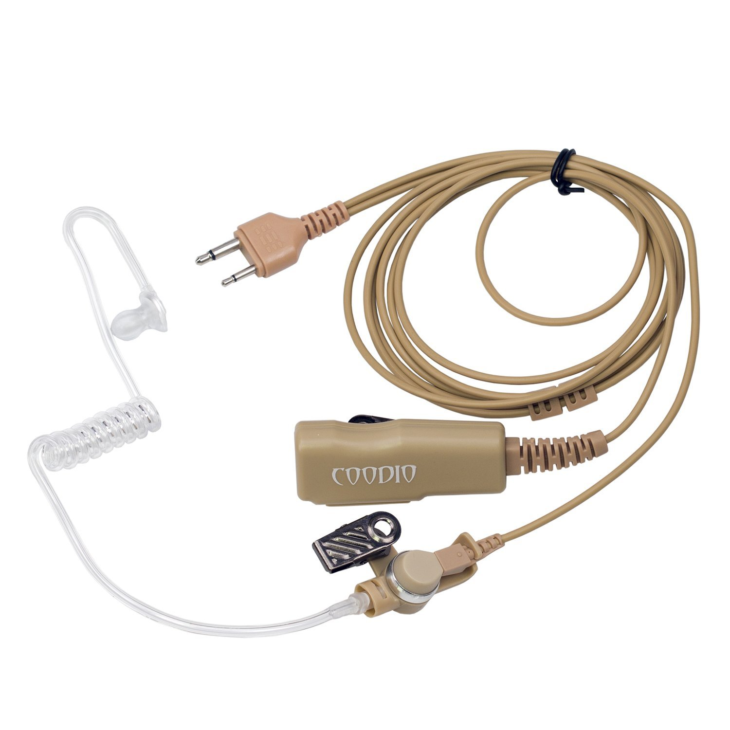 Get Quotations · Beige Coodio Superior Surveillance Earpiece Security  Headset Bodyguard FBI [Covert Acoustic Tube] Mic Microphone
