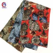 Best selling fancy flower printed wedding fabric for women dress and blouse