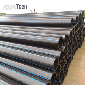 Large Diameter Full Form Black PN10 PE100 HDPE Pipe for Water Supply with Blue Line