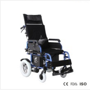 Folding Tiltable High Back Portable Reclining Electric Wheelchair With Flip-up Armrest